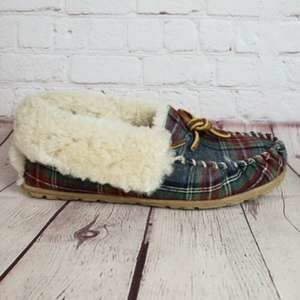 LL Bean Wicked Good Shearling Moccasin Slippers
